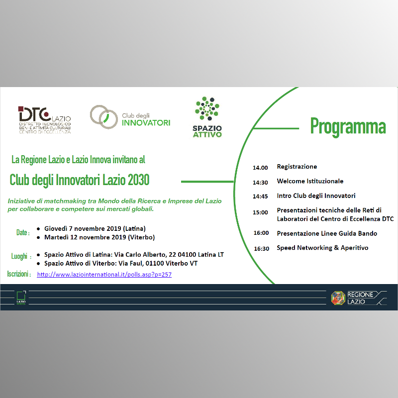 ENEA partecipa al Club degli Innovatori Lazio 2030