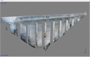 Studio in 3D del Ponte delle Torri, Spoleto