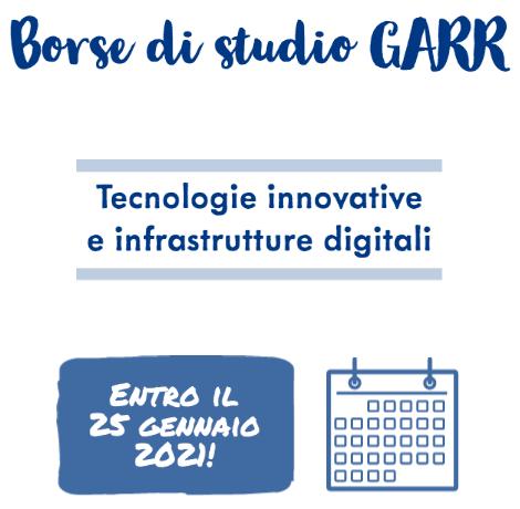 GARR. 10 Borse di studio per progetti di ricerca